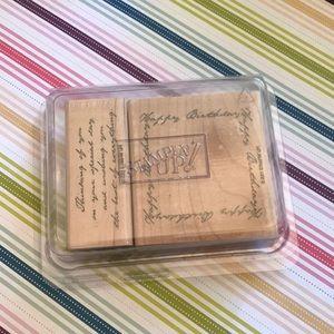 Stampin' Up! Birthday Card Stamp Set